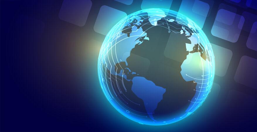 技术全球发光地球背景设计