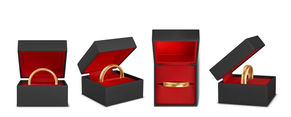 美丽的结婚戒指现实的插图集