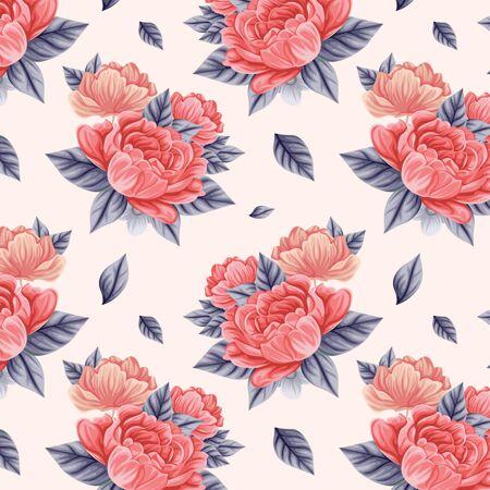 桃色花卉图案