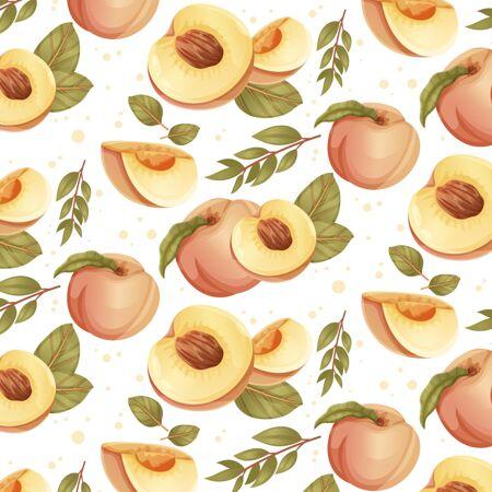 详细的桃花图案