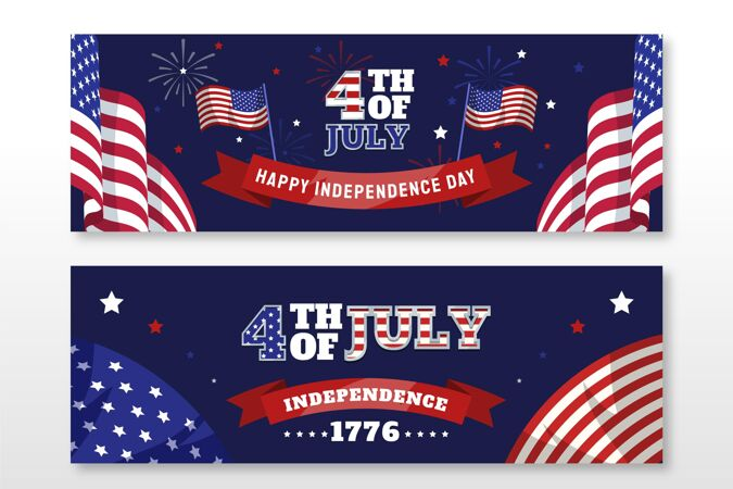 七月四日-独立日横幅布景
