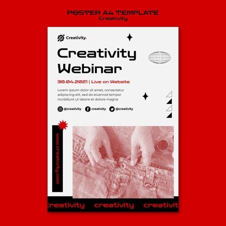 创意网络研讨会海报模板