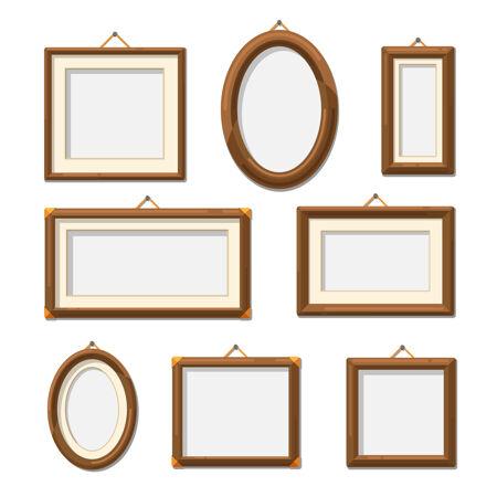 图片木制相框相框装饰空白套插图