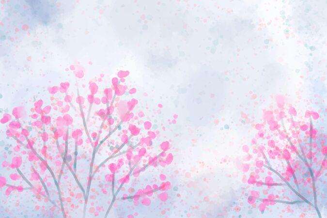 手绘水彩自然背景