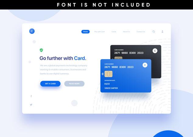 模板登陆页网站信用卡