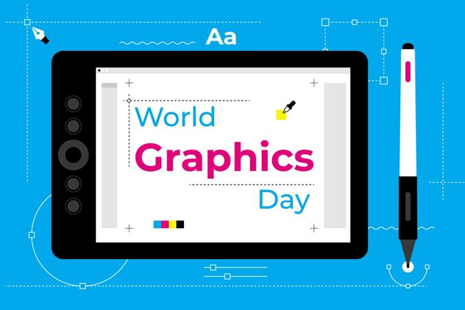 平面世界图形日插图