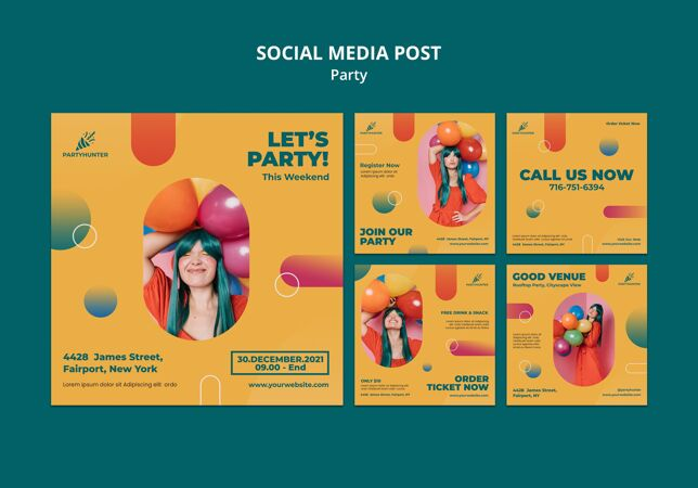 Instagram发布了一系列关于女人和气球的派对庆祝活动